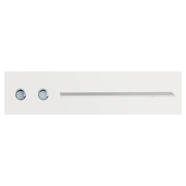 Keuco meTime_spa Thermostatbatterie DN 20 Griffe links Ablage rechts für einen Verbraucher Glas weiß satiniert 56161012701