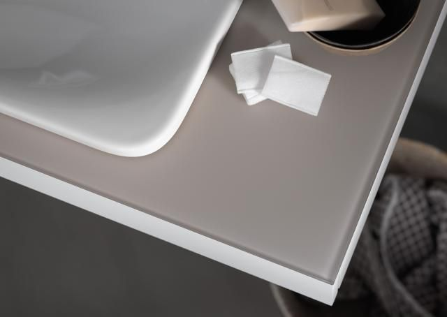 Keuco Edition 400 Einbauwaschtisch B:60xT:40xH:1,6cm ohne Hahnloch ohne Überlauf weiß 31570311600