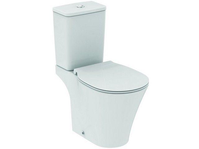 Ideal Standard Connect Air Stand-Tiefspül-WC B:36xH:78xT:66 cm Aquablade spülrandlos Abgang außen waagerecht Kristallporzellan weiß mit Ideal Plus E0097MA