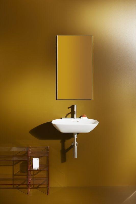 Laufen INO Möbel-Waschtisch mit einem Hahnloch mit Überlauf B:56xT:45cm weiß mit CleanCoat LCC H8103024001041
