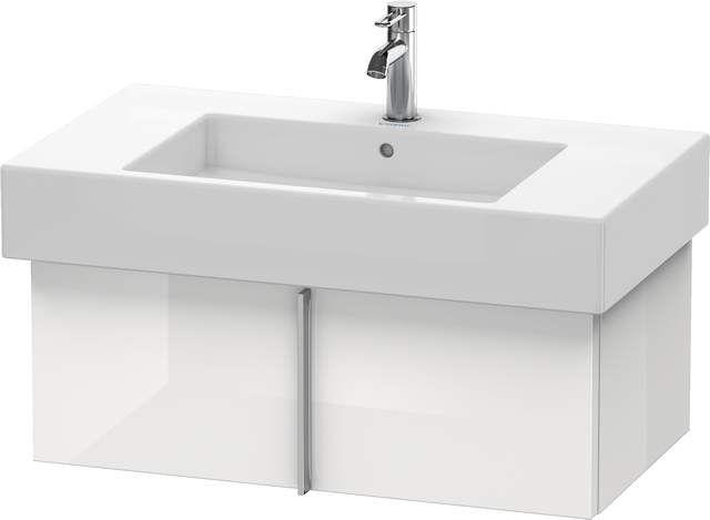 Duravit Vero Waschtischunterschrank wandhängend für 032985 B:80xH:29,8xT:44,6cm 1 Auszug weiß hochglanz lack VE611308585