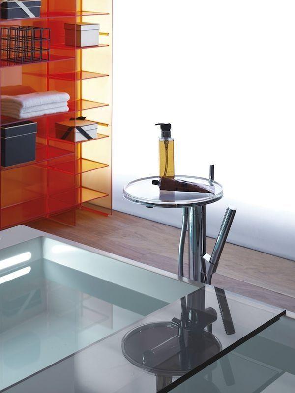 Laufen Kartell Ablage für Badewanne 75x25x1,5cm transparent H3853320840001
