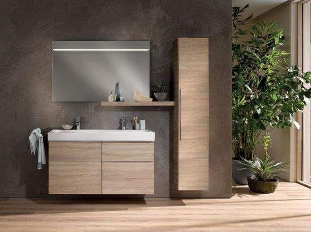 Geberit Keramag iCon Waschtischunterschrank mit 2 Auszügen und 2 Schubladen B:1190xT:477xH:620mm eiche natur 841422000