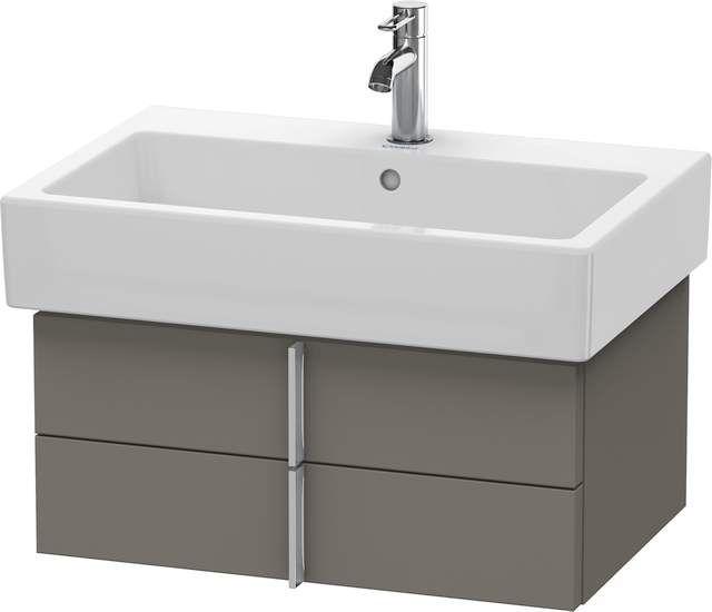 Duravit Vero Waschtischunterschrank wandhängend für 045470 B:65xH:29,8xT:43,1cm 2 Schubkästen flannel grey seidenmatt VE620509090