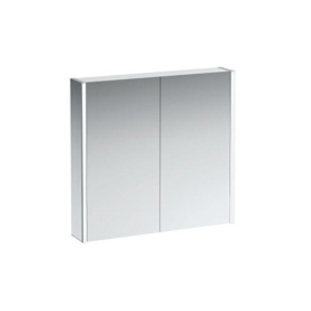 Laufen Frame 25 Spiegelschrank mit Ambiente Licht unten B:80xH:75xT:15cm Seitenteile verspiegelt H4085539001441