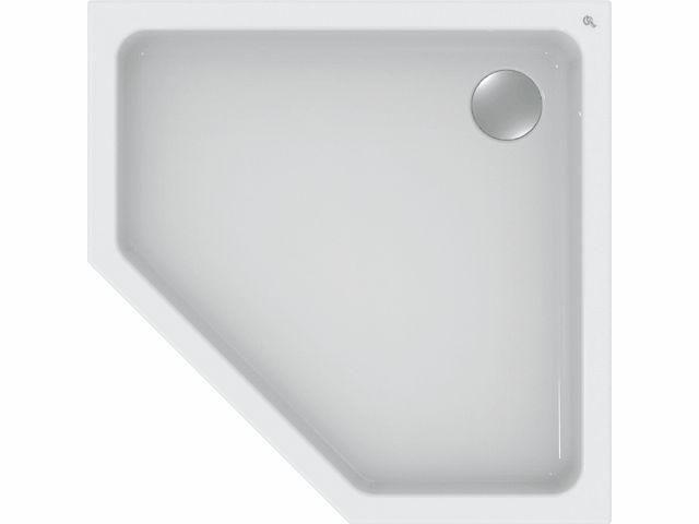 Ideal Standard HOTLINE NEU Fünfeck-Brausewanne 1000x1000x80mm weiß K278401