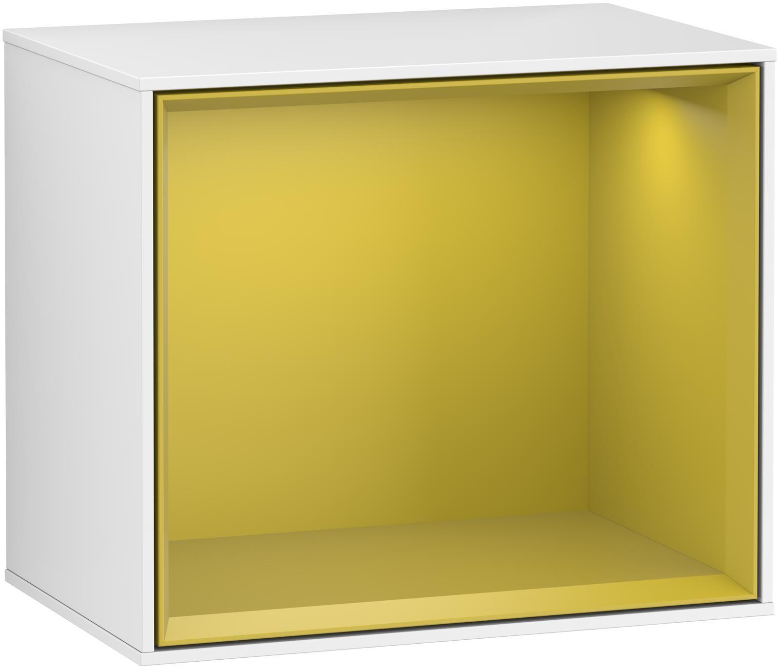 Villeroy & Boch Finion F58 Regalmodul LED-Beleuchtung B:41,8xH:35,6xT:27cm Front, Korpus: Glossy White Lack, Regal: Sun F580HEGF