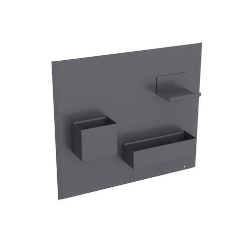 Geberit Keramag Acanto Magnetwand Set B:44,9 x H:38,8 x T:7,5 cm Magnetwand: Lava matt, Ablage und Boxen: Lava matt 500649JK2