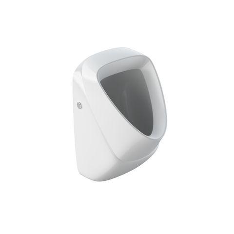 Geberit Keramag Alivio Urinal ohne Deckel mit Zielobjekt Zulauf von hinten 238110600