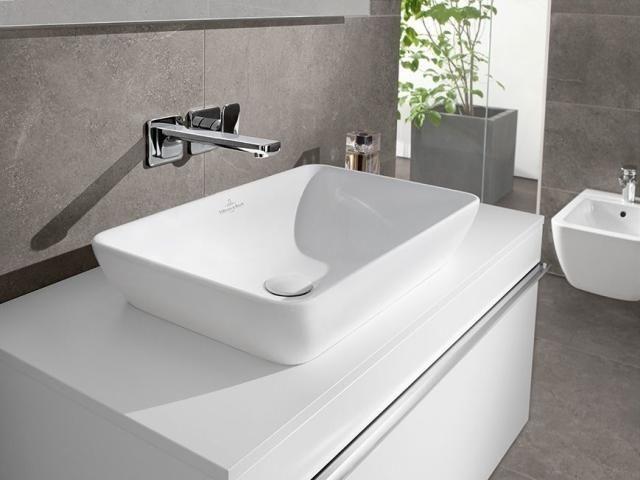 Villeroy & Boch Venticello Waschtischunterschrank 2 Auszüge B:1253xT:502xH:420mm eiche graphit Griffe weiß A93902FQ