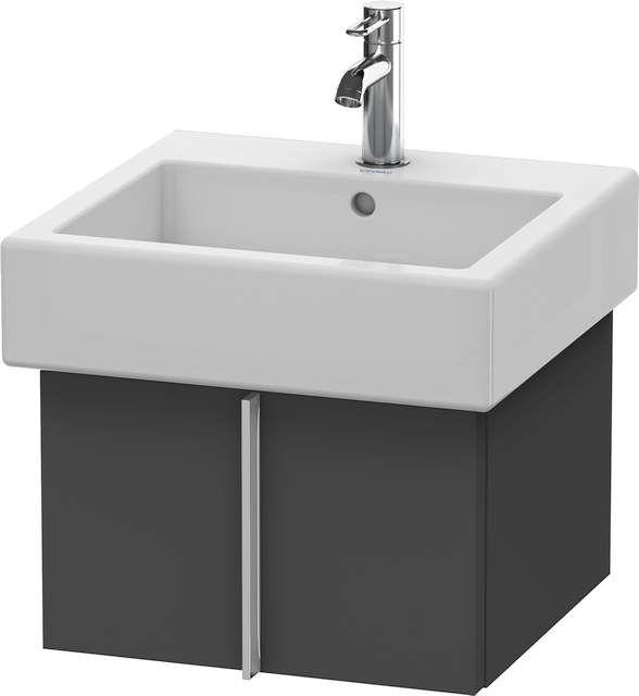 Duravit Vero Waschtischunterschrank wandhängend für 045450 B:45xH:29,8xT:43,1cm 1 Auszug graphit matt VE610304949