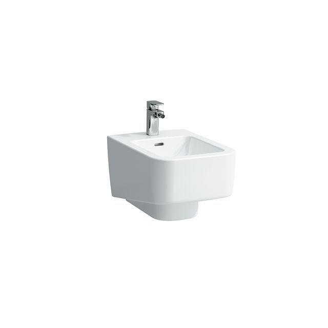 Laufen Pro Wand-Bidet L:53xB:36cm 1 Hahnloch mittig mit Überlauf Anschluss innen weiß mit CleanCoat LCC H8309614003021