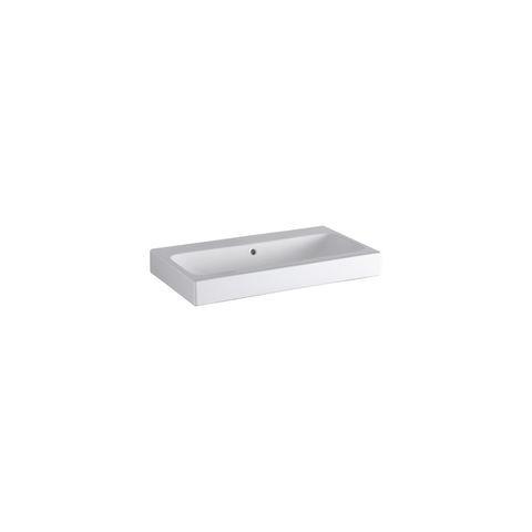 Geberit Keramag iCon Waschtisch B:75xT:48,5cm ohne Hahnloch mit Überlauf weiß mit KeraTect 124078600