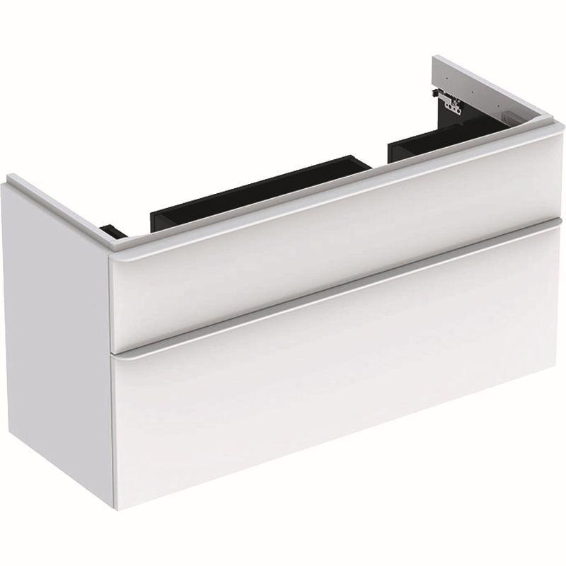 Geberit Smyle Square Unterschrank für Doppel-Waschtisch mit 2 Schubladen 1184x617x47cm weiß 500356001