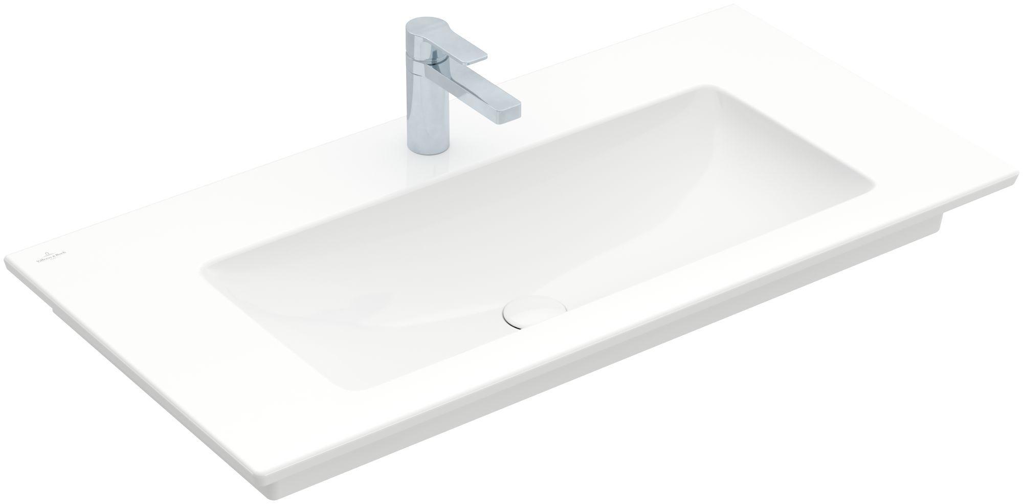 Villeroy & Boch Venticello Möbelwaschtisch B:100xT:50cm 1 Hahnloch ohne Überlauf weiß 4104AH01