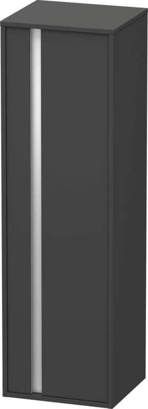 Duravit Ketho Hochschrank B:40xH:132xT:36cm 1 Tür Türanschlag rechts graphit matt KT1257R4949