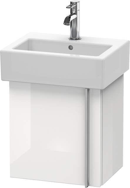 Duravit Vero Waschtischunterschrank wandhängend B:40xH:42,8xT:31,1cm 1 Tür Türanschlag links weiß hochglanz VE6271L2222