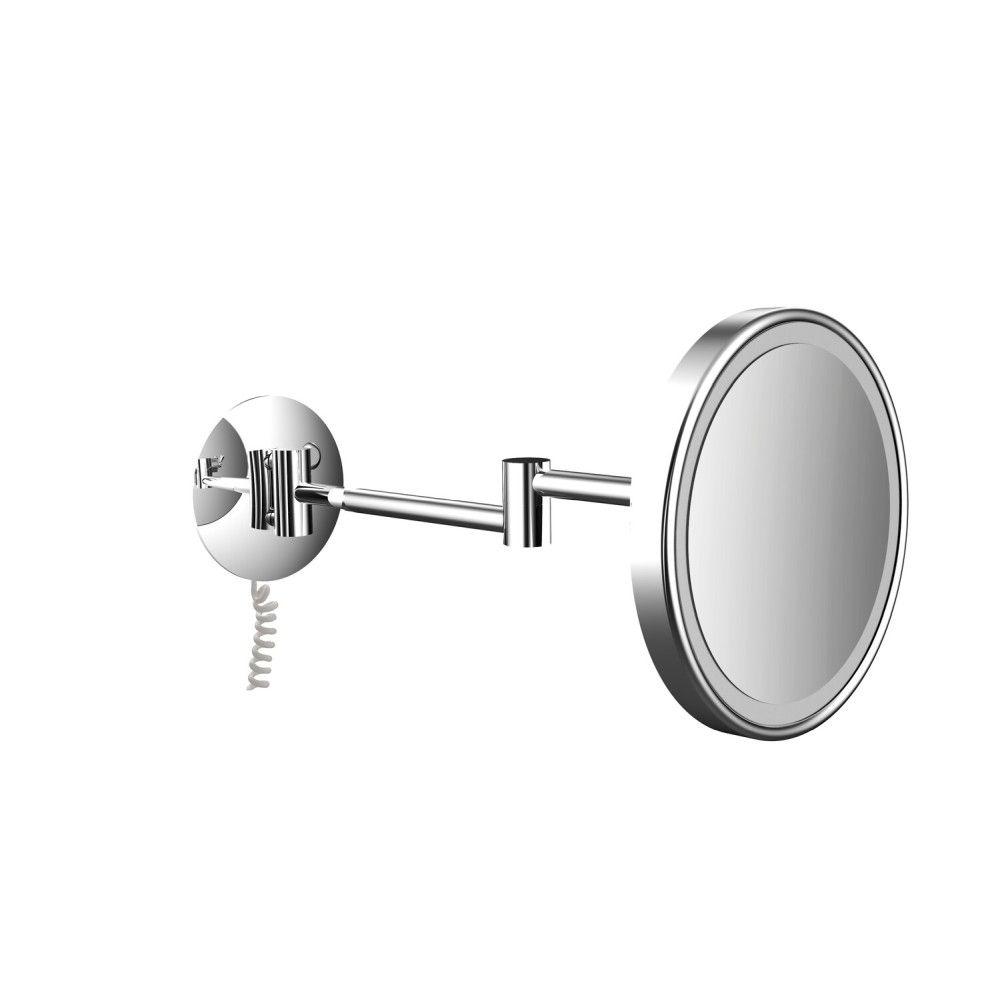Emco Pure LED-Kosmetikspiegel D:20,3cm 3-fache Vergrößerung 2-armig chrom 109406013