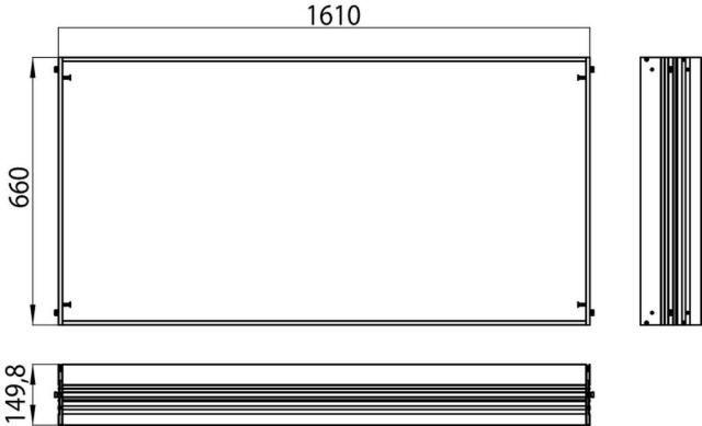 Emco asis Einbaurahmen 1610x660 mm 989700023