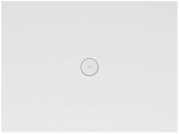Villeroy & Boch Subway Infinity Duschwanne L:90xB:80xH:4 cm mit kurzer Seite geschnitten weiß mit Antirutsch 6229E302