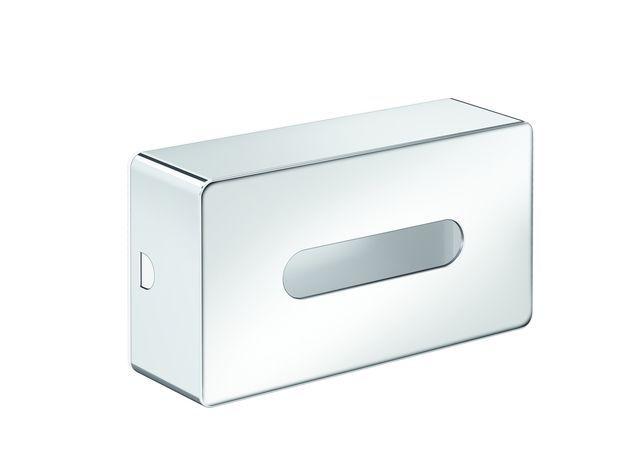 Emco loft Kosmetiktuchbox 250 x 79 x 140mm chrom/ weiß 055700100