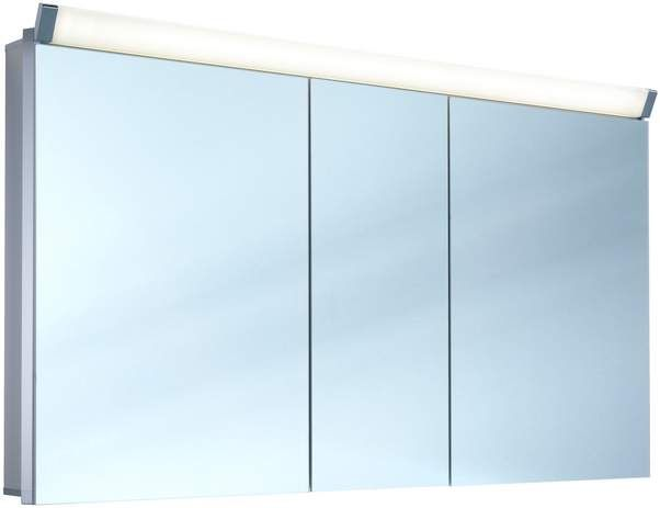 Schneider Paliline LED Spiegelschrank B:150xH:76xT:12cm 3 Türen Alu eloxiert 159.150.02.50