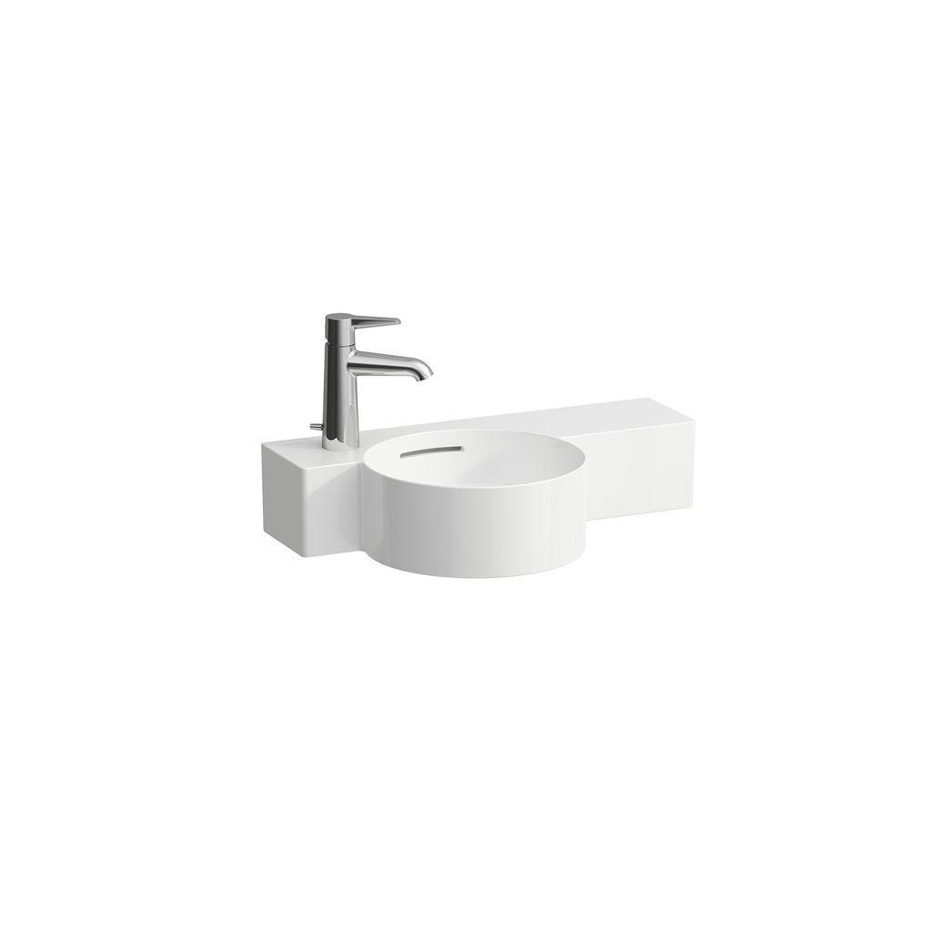 Laufen Handwaschbecken Val 315x550 1 Hahnloch links mit Überlauf Ablage rechts LCC weiss H8152834001051