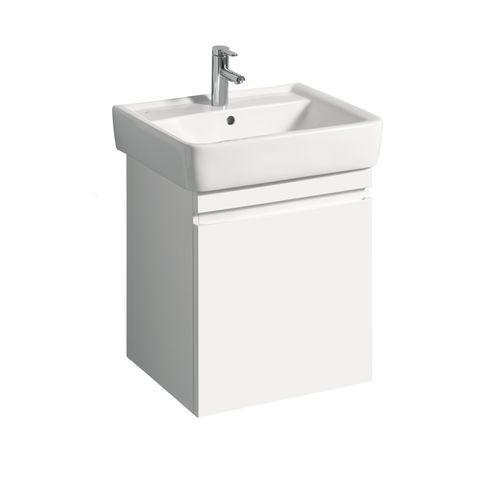 Geberit Keramag Renova Plan Waschtischunterschrank mit 1 Auszug und 1 Schublade B:526xT:438xH:586mm weiß hochglanz 869600000