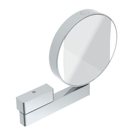 Emco LED Rasier- & Kosmetikspiegel mit Gelenkarm Vergrößerung 3- & 7-fach Direktanschluss chrom mit Farbwechsel FW 109506017
