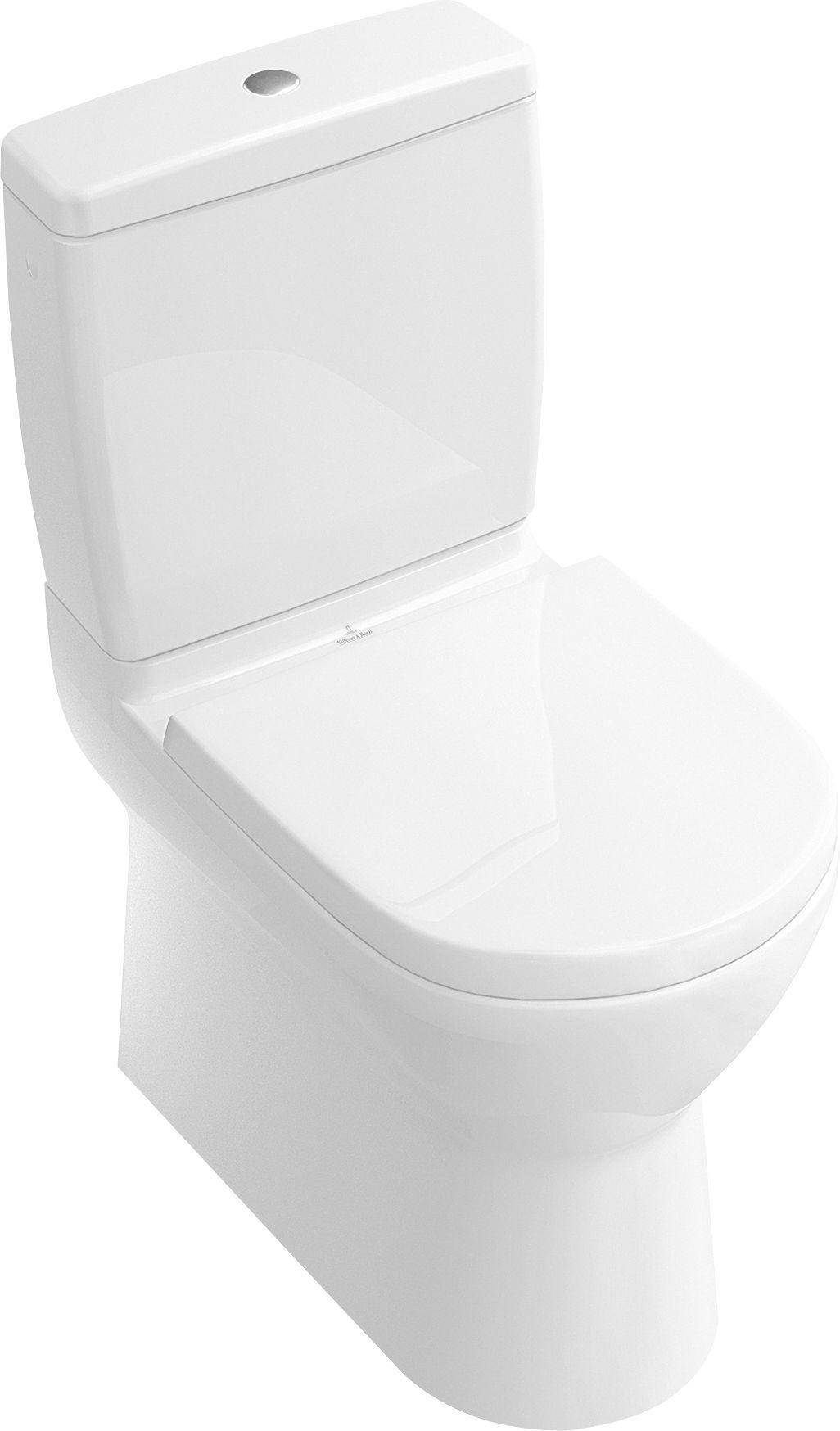 Villeroy & Boch O.novo Tiefspül-Stand-WC für Aufsatzspülkasten L:61xB:36cm Weiß Alpin mit Ceramicplus 565810R1