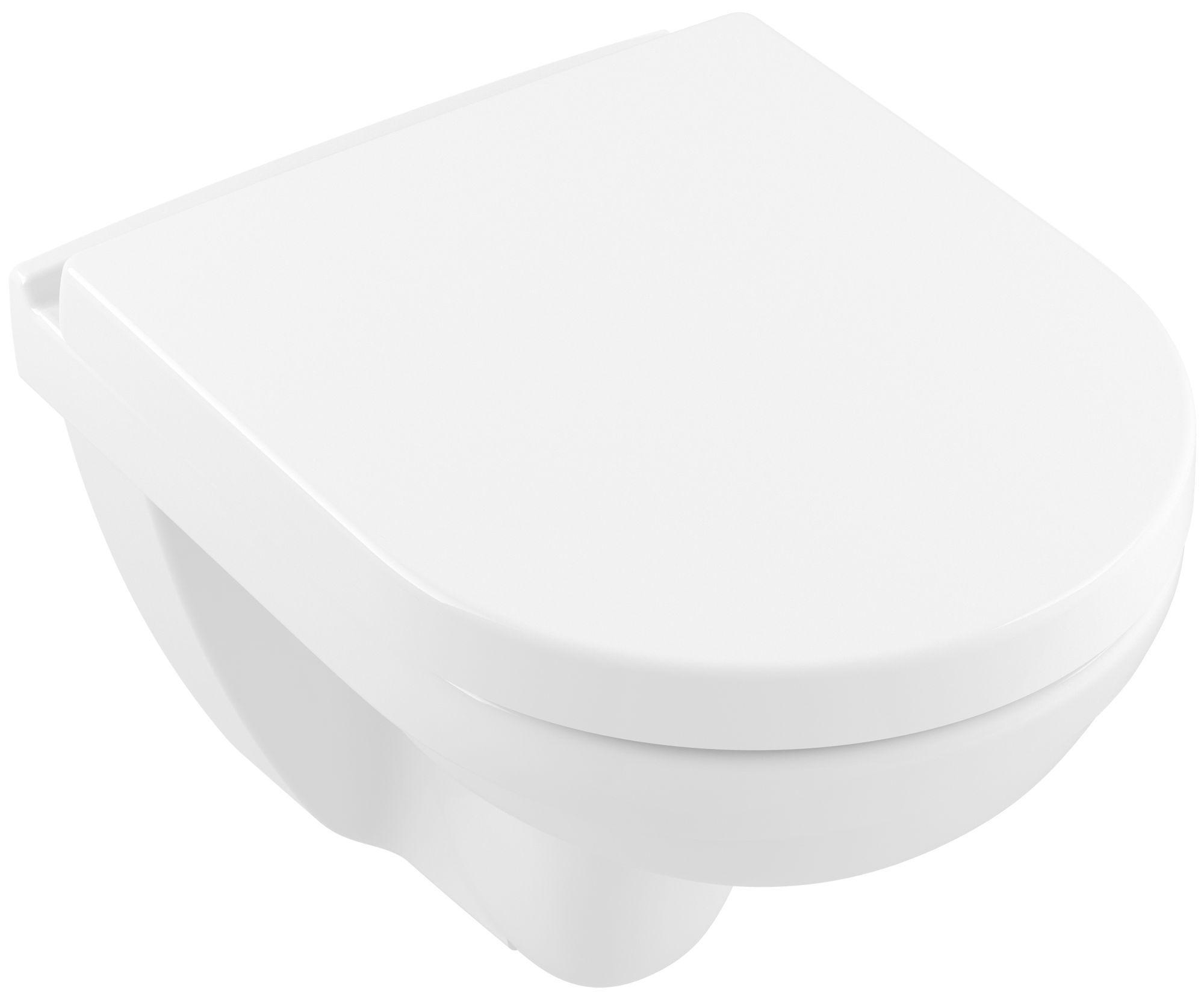 Villeroy & Boch O.novo Wand-WC-Set spülrandlos DirectFlush B:36xT:49cm weiß 5688HR01