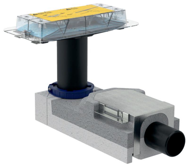 Geberit CleanLine Duschrinnen-Rohbauset ab 9cm Fußbodenaufbauhöhe 154150001