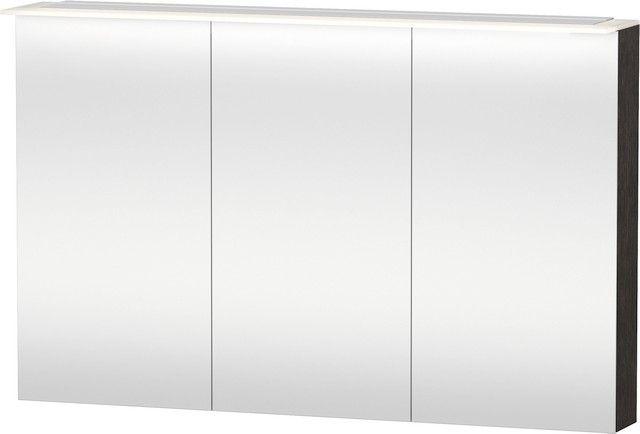 Duravit Happy D.2 Spiegelschrank 138x1200x760 3 Türen eiche dunkel gebüstet H2759607272