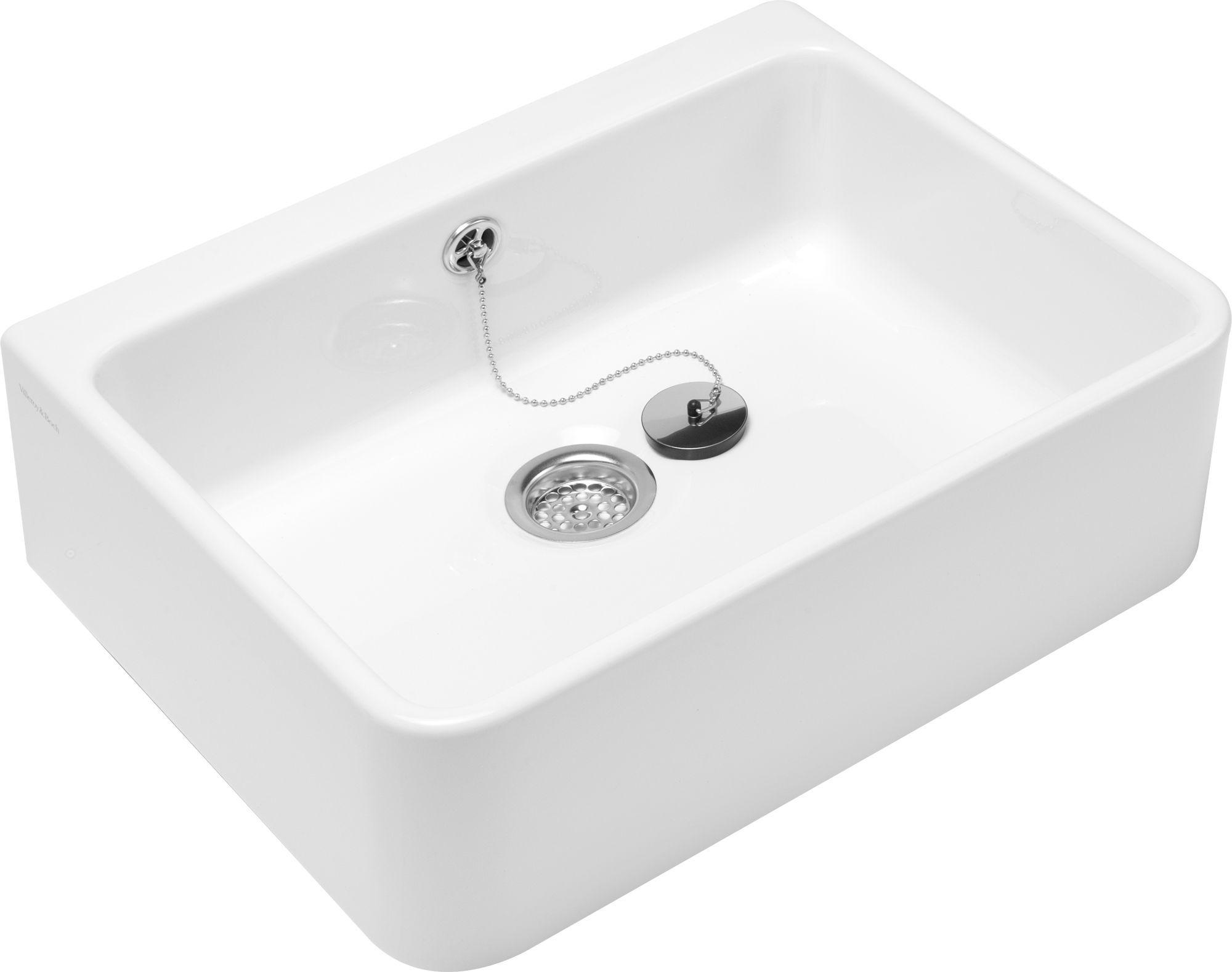 Villeroy & Boch O.novo Waschtisch B:59,5xT:50cm ohne Hahnloch mit Überlauf weiß mit Ceramicplus 632200R1