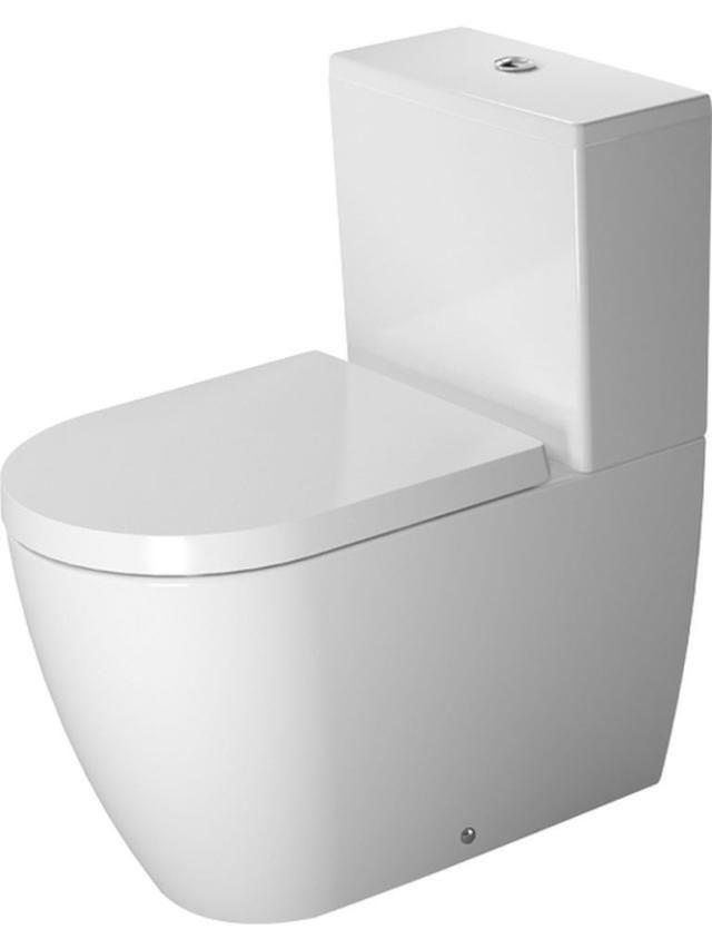 Duravit ME by Starck Tiefspül-Stand-WC für Aufsatzspülkasten Vario Abgang L:65cm weiß mit Wondergliss 21700900001