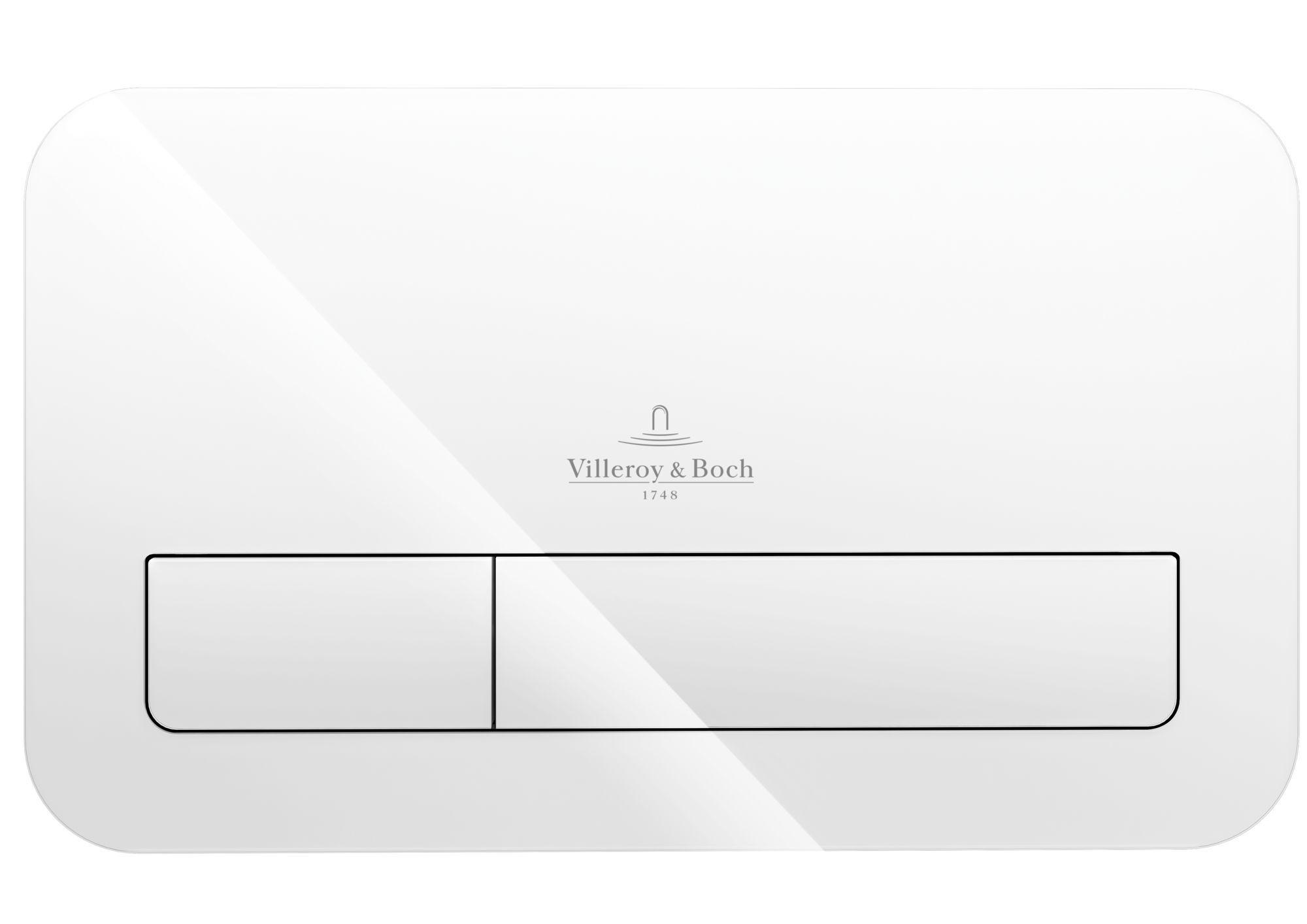 Villeroy & Boch ViConnect M200 Betätigungsplatte B:26,9xH:16,1xT:1,3cm Glas glossy weiß 922400RE
