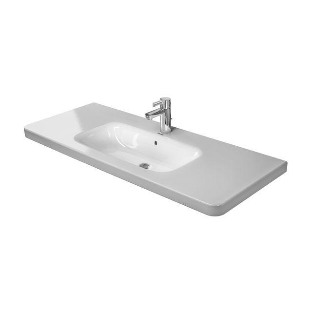Duravit DuraStyle Möbelwaschtisch B:120xT:48cm ohne Hahnloch mit Überlauf weiß mit WonderGliss 23201200601