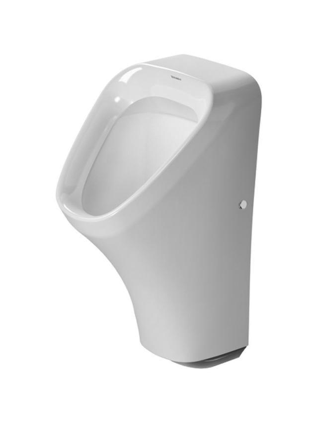 Duravit DuraStyle Urinal ohne Deckel Zulauf von hinten weiß mit Wondergliss 28043100071
