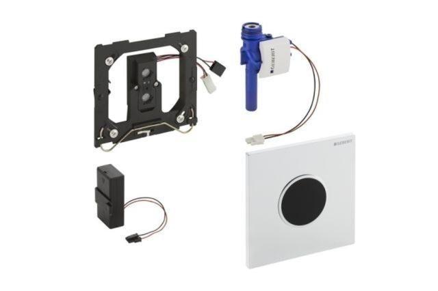 Geberit HyTronic Urinalsteuerung Sigma10 schwarz-verchromt 116035KM1