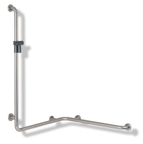 HEWI Dusch-Wannenhandlauf Serie 805 rechts mit Brausehalterstange Reinweiß 805.35.210R 99