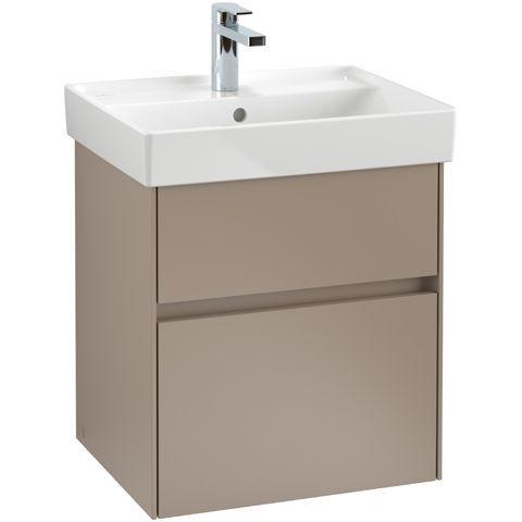 Villeroy & Boch Waschbeckenunterschrank Collaro, 510 x 546 x 414 mm, mit Beleuchtung, 2 Auszüge, Glossy White C007L0DH