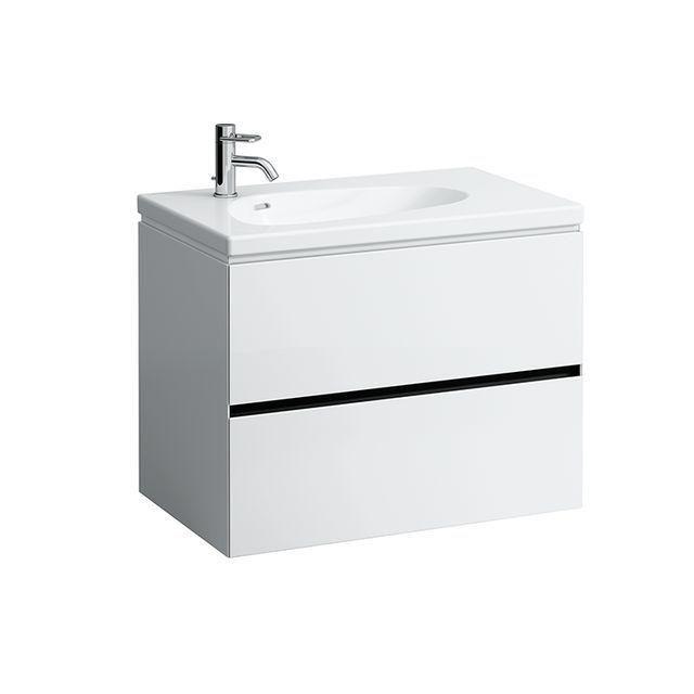 Laufen Palomba Waschtischunterbau 2 Schubladen ohne Steckdose B:78,5xH:57,5xT:49,5cm kirsche vermont dunkel H4072021802221