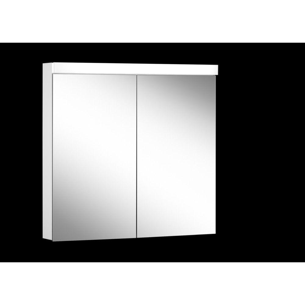 Schneider Spiegelschrank LOWLINE Plus 80/2/LED B:80xH:74,8xT:12cm mit Beleuchtung weiß 172.080.02.0201