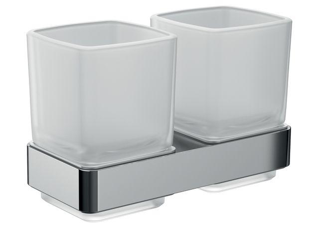 Emco loft Doppelglashalter Kristallglas satiniert chrom 052500100
