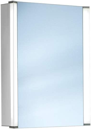 Schneider Elualine LED Spiegelschrank B:55xH:68,6xT:13,5cm 1 Tür Anschlag wählbar Alu eloxiert 162.055.02.50 - MAIN