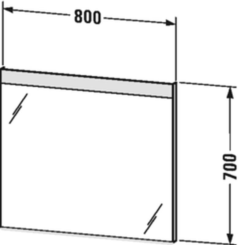Duravit Licht&Spiegel mit Beleuchtung oben mit Sensorschalter B:80xH:70xT:3,5 cm LM784600000