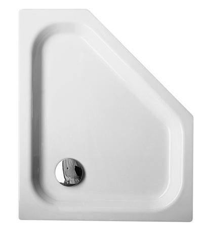 Bette Caro Fünfeck Duschwanne L:80xB:90xT:6,5cm ohne Schürze mit Antirutsch weiß 6705-000AR