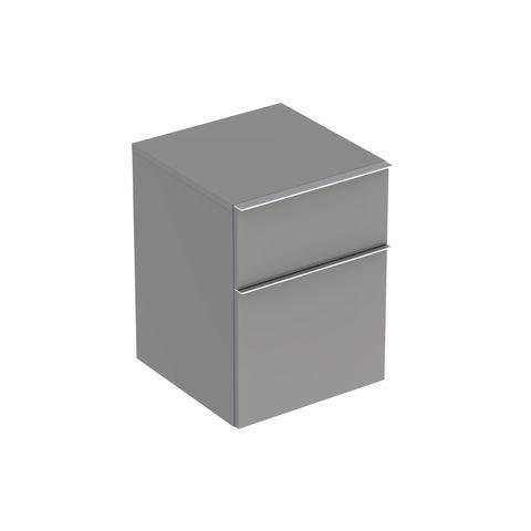 Geberit Keramag iCon Seitenschrank mit 1 Auszug und 1 Schublade B:450xT:477xH:600mm platin hochglanz 840047000