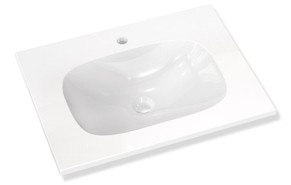 Hewi Waschtisch B:65,8xT:52,6cm unterfahrbar 1 Hahnloch ohne Überlauf weiß M40.11.101