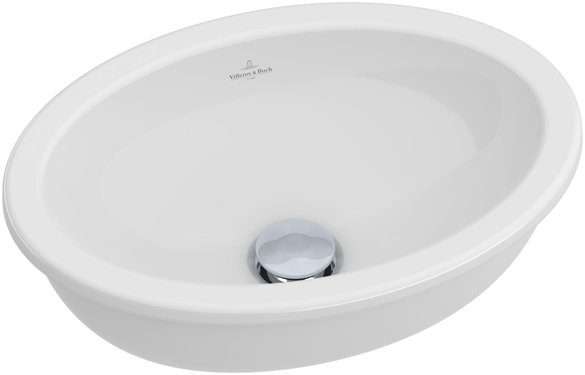 Villeroy & Boch Loop & Friends Unterbauwaschtisch B:38,5xT:25,5cm ohne Hahnloch ohne Überlauf starwhite mit Ceramicplus 616101R2